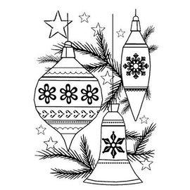 CREATIVE EXPRESSIONS und COUTURE CREATIONS NUOVO arrivato! Cancella / francobolli trasparente: palle di Natale Set di Natale