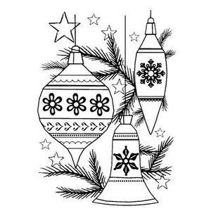 CREATIVE EXPRESSIONS und COUTURE CREATIONS NYE ankom! Klare / Transparente frimærker: Jul bolde Set Xmas