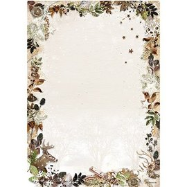 Karten und Scrapbooking Papier, Papier blöcke A4 Bogen, Woodland