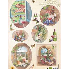 Bilder, 3D Bilder und ausgestanzte Teile usw... feuille A4 de photos: vin et raisins