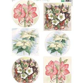 Bilder, 3D Bilder und ausgestanzte Teile usw... A4 picture sheet: Mattie's most beautiful flowers