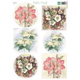 Bilder, 3D Bilder und ausgestanzte Teile usw... A4 Bilderbogen: Mattie's schönste Blumen