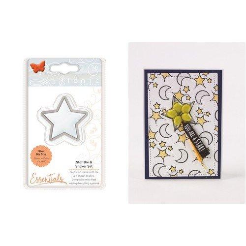 Tonic Studio´s Nouveau! SET: modèle poinçonnage et blister-shaker, avec étoile