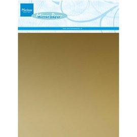 BASTELZUBEHÖR, WERKZEUG UND AUFBEWAHRUNG Mirror cardboard in gold