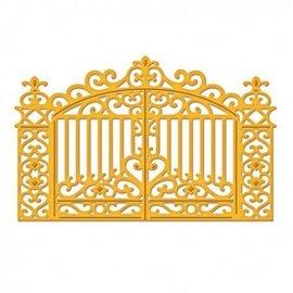Spellbinders und Rayher Snij en embossing mall, golden gate 11,1 x 7,3 cm