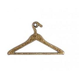 Embellishments / Verzierungen 2 pendientes de metal, Mini suspensión de ropa de la vendimia