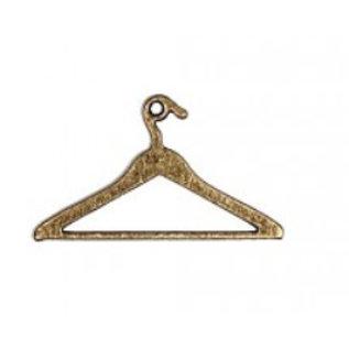 Embellishments / Verzierungen 2 Metal Charms, Mini Vintage kleerhanger