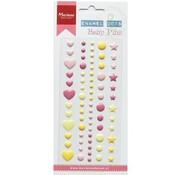 Embellishments / Verzierungen Ornements / Décoration: 72 perles adhésives
