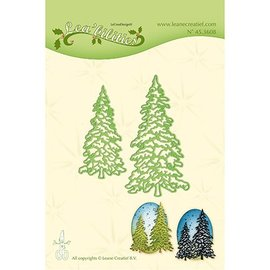 Leane Creatief - Lea'bilities und By Lene Stamping template: 2 fir trees