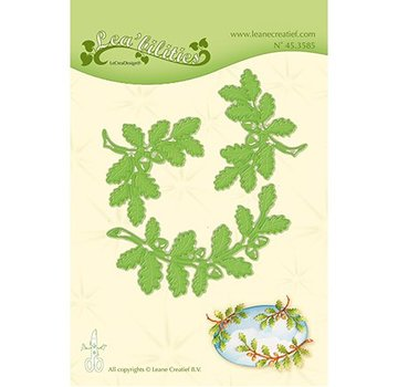 Leane Creatief - Lea'bilities und By Lene Stamping template: leaves and branches