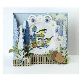 Marianne Design modello di punzonatura: cerchio di Petra con l'uccello