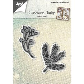 Joy!Crafts / Jeanine´s Art, Hobby Solutions Dies /  Stamping template: fir branches and berries