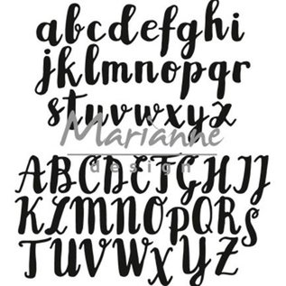 Marianne Design Stamping template: Brush upper and lower case letters