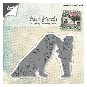 Joy!Crafts / Jeanine´s Art, Hobby Solutions Dies /  Stamping stencils: dog with child