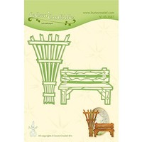 Cutting & Embossing: Garden bench & trellis