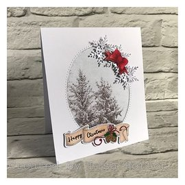 Stempel / Stamp: Transparent Gennemsigtigt stempelmotiv, jul,