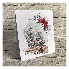 Stempel / Stamp: Transparent Gjennomsiktig stempelmotiv, jul,