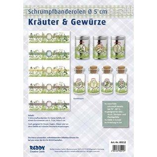 BANDEROLEN, Schrumpffolien Shrinking bands Banderoles for spices, 5 cm