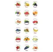 18 étiquettes auto-adhésives pour la confiture / fouettées