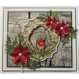 Stempel / Stamp: Transparent Claro / sello transparente: Petirrojo de la Navidad