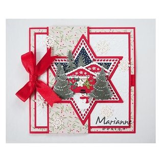 Marianne Design Skære skabelon: 7 stjerner