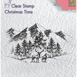 Stempel / Stamp: Transparent Clear, Transparent Stempel: Winterlandscape with deer