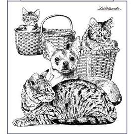 LaBlanche Stamp Lablanche: hund og katt