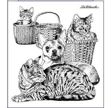 LaBlanche Frimærke Lablanche: hund og kat