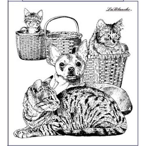 LaBlanche Stempel Lablanche: hond en kat