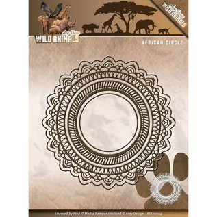 AMY DESIGN AMY DESIGN, Ponsen en embossing stencils: Wilde dieren - Afrikaanse cirkel