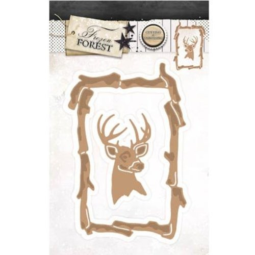 Studio Light Cutting & Embossing: frame with reindeer