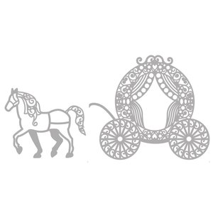 Marianne Design Cutting & Embossing Die: Filigre Pfrede with carriage
