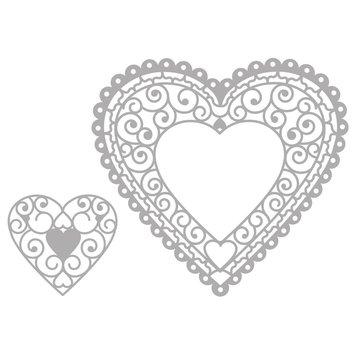 Marianne Design Skæring & Embossing Die: Filigre Heart Doily