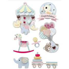 Embellishments / Verzierungen Tolle Verzierungen in 3D Sticker: Baby Motiven, Limited!