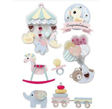 Embellishments / Verzierungen Tolle Verzierungen in 3D Sticker: Baby Motiven, Limited!