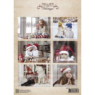 Bilder, 3D Bilder und ausgestanzte Teile usw... A4 Bilderbogen: Kinder und Weihnachten