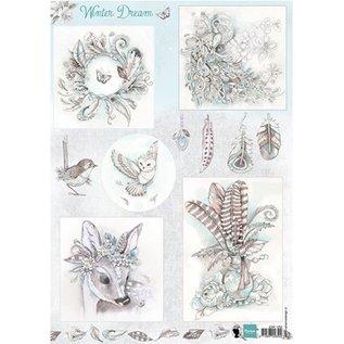 Bilder, 3D Bilder und ausgestanzte Teile usw... A4 fotopapier: sprookjesdroom - blauw