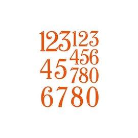 Tonic Studio´s Stanzschablonen: Zahlen Windsor Type