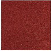 Designer Papier Scrapbooking: 30,5 x 30,5 cm Papier Glitter paper red, 30.5 x 30.5 cm