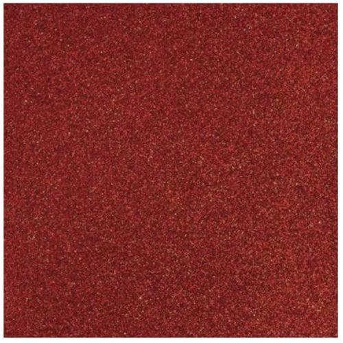 Designer Papier Scrapbooking: 30,5 x 30,5 cm Papier Glitter papier rouge, 30,5 x 30,5 cm
