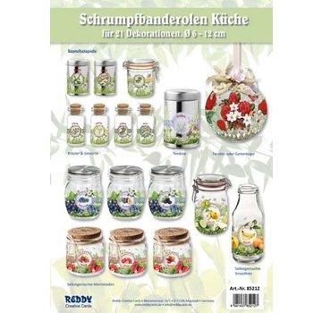 BANDEROLEN, Schrumpffolien Range Køkken frimærker - sat for 21 frimærker til diameter 5 - 12 cm