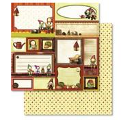 Designer Papier Scrapbooking: 30,5 x 30,5 cm Papier 1 bow Premium Glitter with Christmas motifs