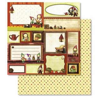 Designer Papier Scrapbooking: 30,5 x 30,5 cm Papier 1 vel Premium glitter met Weihnachtsmotiven