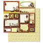 Designer Papier Scrapbooking: 30,5 x 30,5 cm Papier 1 foglio Premium glitter con Weihnachtsmotiven