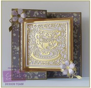Die'sire Stamping template: Create a card, Tea Party