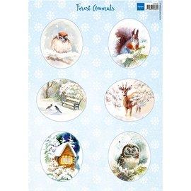 Bilder, 3D Bilder und ausgestanzte Teile usw... hoja A4 de cuadros: Los animales del bosque