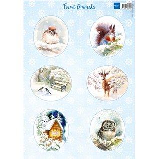 Bilder, 3D Bilder und ausgestanzte Teile usw... A4 Bilderbogen: Forest animals