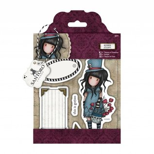 Gorjuss / Santoro Rubber stamp: santoro, the Hatter - only 1 in stock!