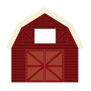 Marianne Design Stamping templates: barn