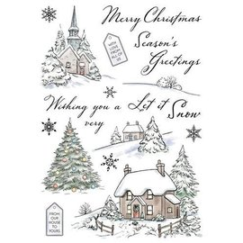 Wild Rose Studio`s Transparent / Clear Stempel: Winter Cottages